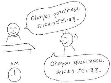 Japanese lesson yori sensei nihongo training incorporated basic greetings in japanese ohayou m4hsunfo